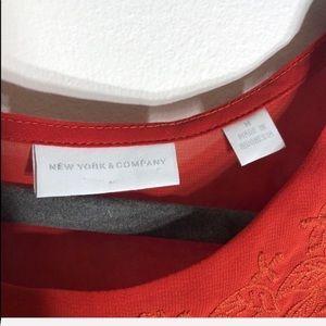 New York & Company Tops - 3/$20 NY&Co. Burnt Orange Sheer Shirt